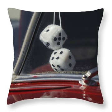 Fuzzy Dice 2 Throw Pillow by Jill Reger