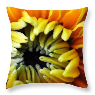 Fuzzy Wuzzy Throw Pillow by Judy Wolinsky