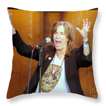 Throw Pillow featuring the photograph G-l-o-r-i-a by Ed Weidman