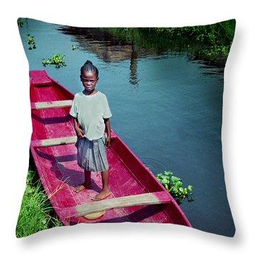 Dad's Canoe Throw Pillow
