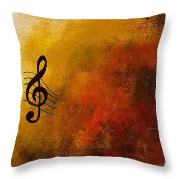 G Symphony Throw Pillow