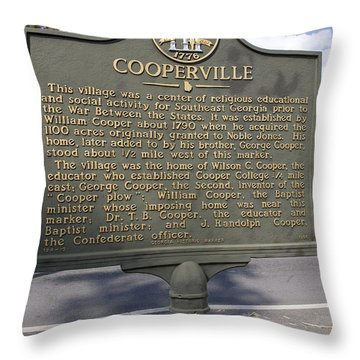 Ga-124-13 Cooperville Throw Pillow by Jason O Watson