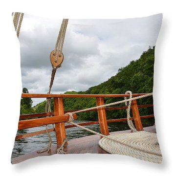 Throw Pillow featuring the photograph Boat Rope by Dany Lison