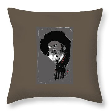 Gabby Hayes #3 Throw Pillow by David Lee Guss