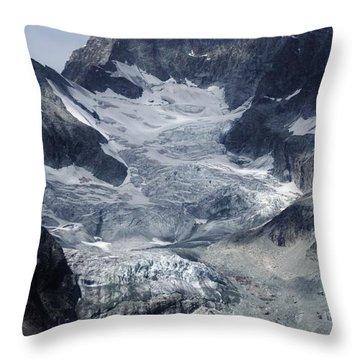 Gabelhorngletscher Throw Pillow by David Broome