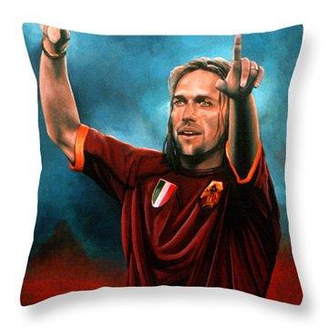 Gabriel Batistuta Throw Pillow by Paul Meijering