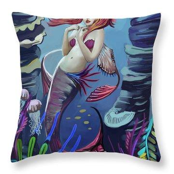 Gabriel The Mermaid Throw Pillow