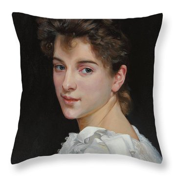 Gabrielle Cot After W. Bougereau Throw Pillow