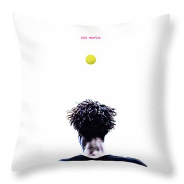 Gael Monfils Throw Pillow by Nishanth Gopinathan
