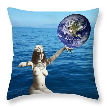 Gaia Throw Pillow by Matthew Lacey