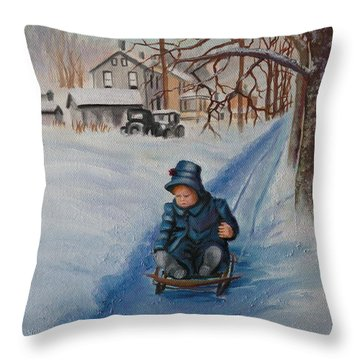 Gails Christmas Adventure Throw Pillow by Lora Duguay