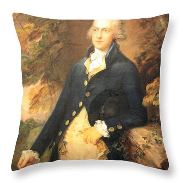 Gainsborough's Francis Bassat -- Lord De Dunstanville Throw Pillow by Cora Wandel