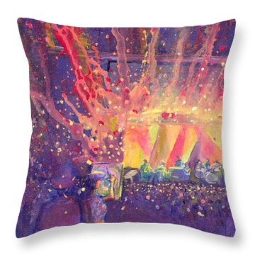 Galactic At Arise Music Festival Throw Pillow by David Sockrider