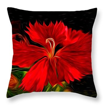 Galactic Dianthus Throw Pillow by David Kehrli