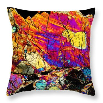 Galactic Divide Throw Pillow