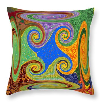 3d Twirl Galactic Invisible Teleport Station 2050 Alien Galaxy Communication Technology Startrack  Throw Pillow