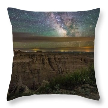 Galactic Pinnacles Throw Pillow