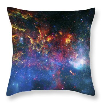 Galactic Storm Throw Pillow by Jennifer Rondinelli Reilly - Fine Art Photography