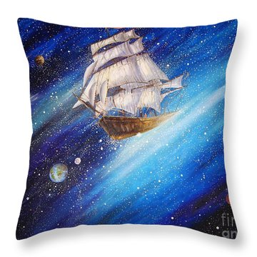 Galactic Traveler Throw Pillow