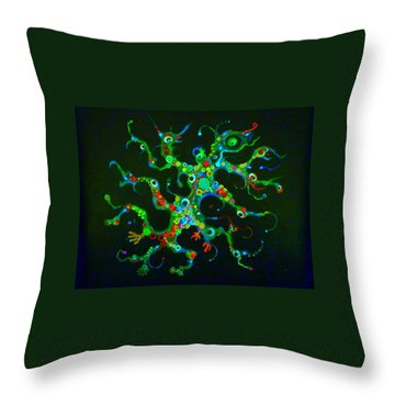 Galactik Gekko Throw Pillow by Douglas Fromm