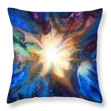 Flor Boreal Throw Pillow by Angel Ortiz