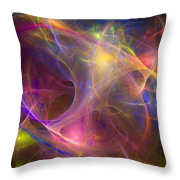 Galaxie Fractale -01 Throw Pillow by RochVanh