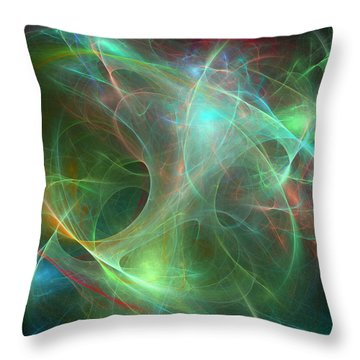 Galaxie Fractale -02 Throw Pillow by RochVanh
