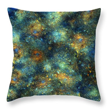 Galaxies  Throw Pillow by Betsy Knapp