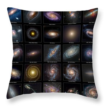 Galaxy Collection Throw Pillow by Antony McAulay