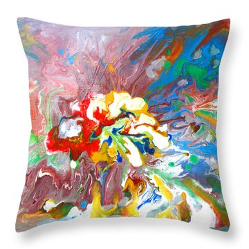 Galaxy Formation Throw Pillow by Augusta Stylianou