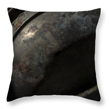 Throw Pillow featuring the photograph Galaxy In A Galvanized Pan by Rebecca Sherman