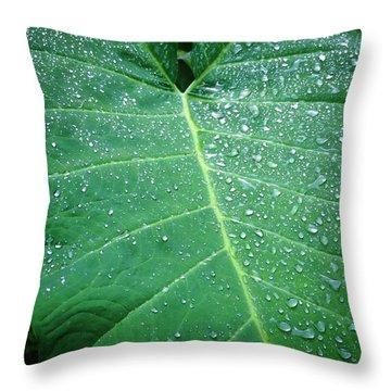Galaxy Rain Throw Pillow