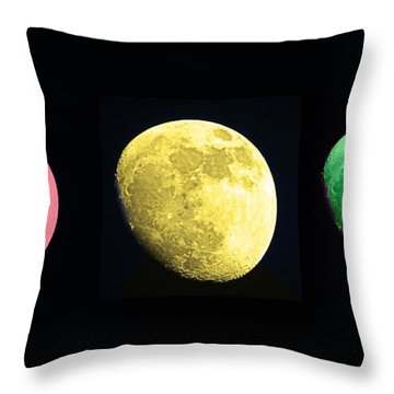 Galaxy Stop Light Throw Pillow by Tom Gari Gallery-Three-Photography