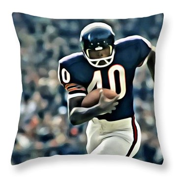 Gale Sayers Throw Pillow