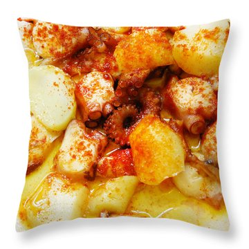 Galician Octopus  Throw Pillow