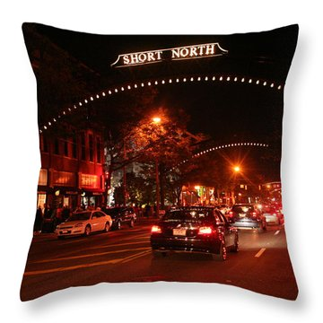 Gallery Hop In The Short North Throw Pillow by Laurel Talabere