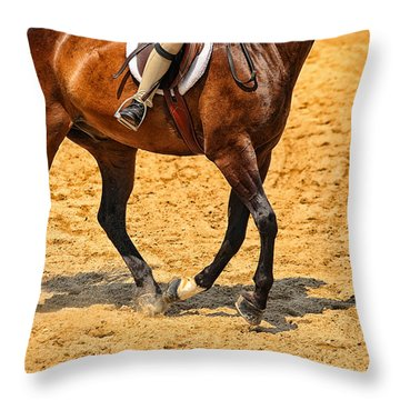 Gallop Throw Pillow by Karol Livote