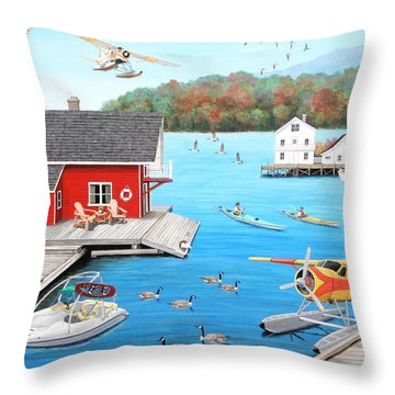 Galloping Goose Lake Throw Pillow