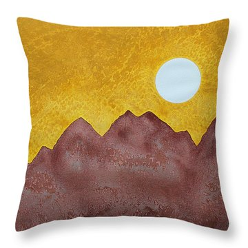 Gallup Original Painting Throw Pillow by Sol Luckman