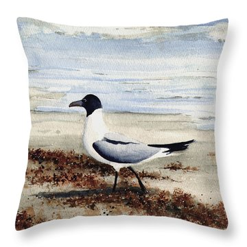 Galveston Gull Throw Pillow