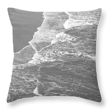 Galveston Tide In Grayscale Throw Pillow