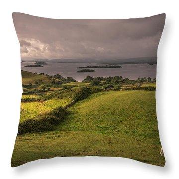 Galway Morning Throw Pillow by Tim Bryan