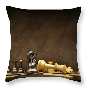 Game Over Throw Pillow by Don Hammond
