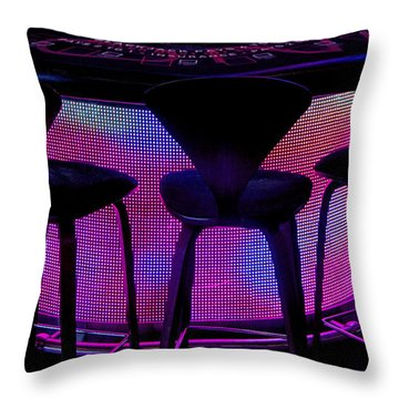 Game Table Throw Pillow by Tammy Espino