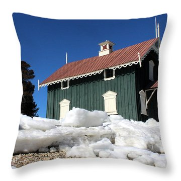 Gamecock Cottage Stony Brook New York Throw Pillow