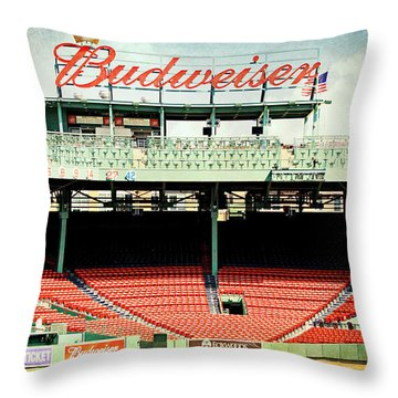 Gameday Ready At Fenway Throw Pillow