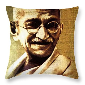 Gandhiji Throw Pillow
