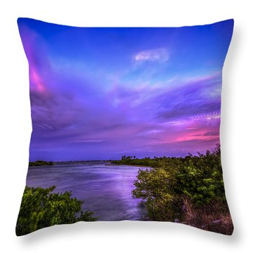 Gandy Lagoon 2 Throw Pillow by Marvin Spates