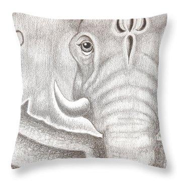 Ganesh Throw Pillow by Adam Wood