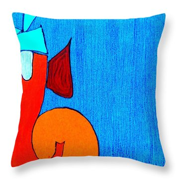 3 Ganesh Lambodaray Throw Pillow